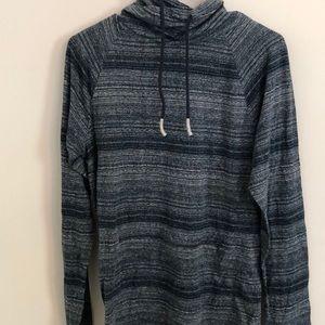 Blue Patterned American Rag Turtleneck Sweater